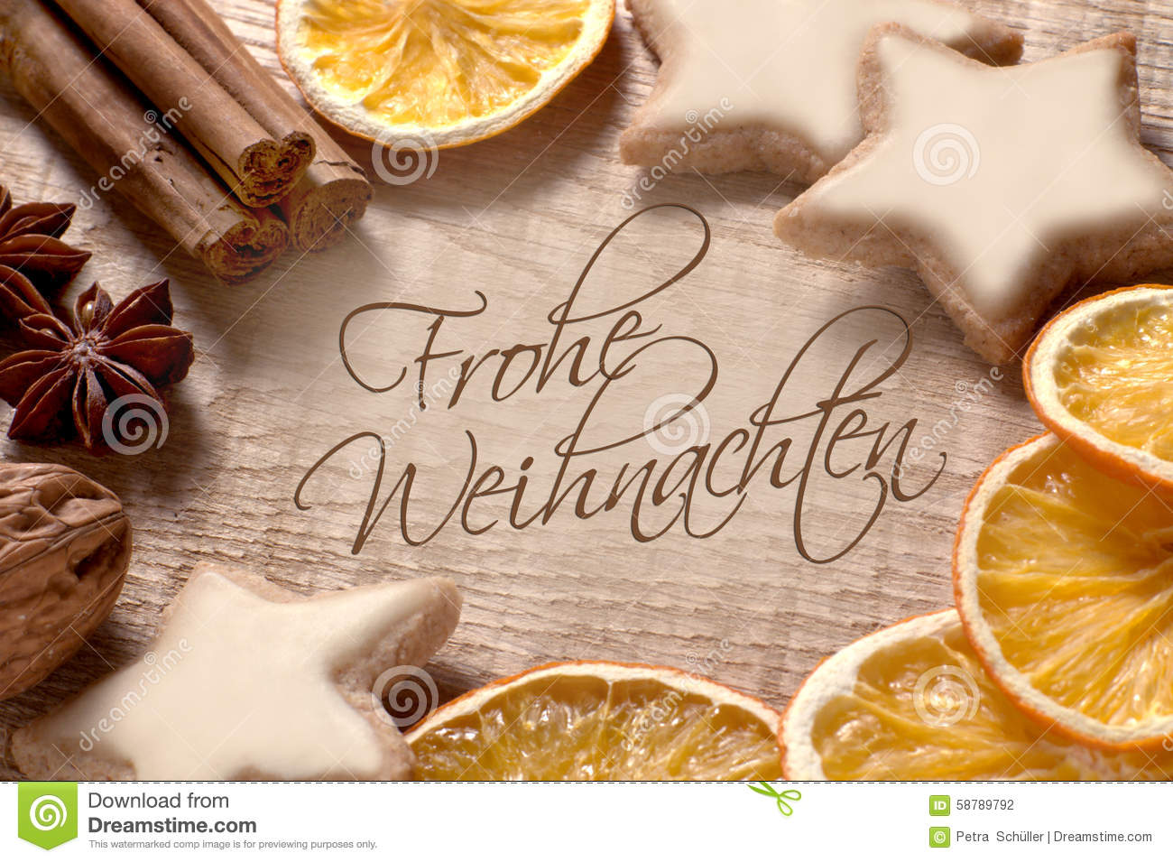 Christmas Greetings In German Stock Photo Image Of