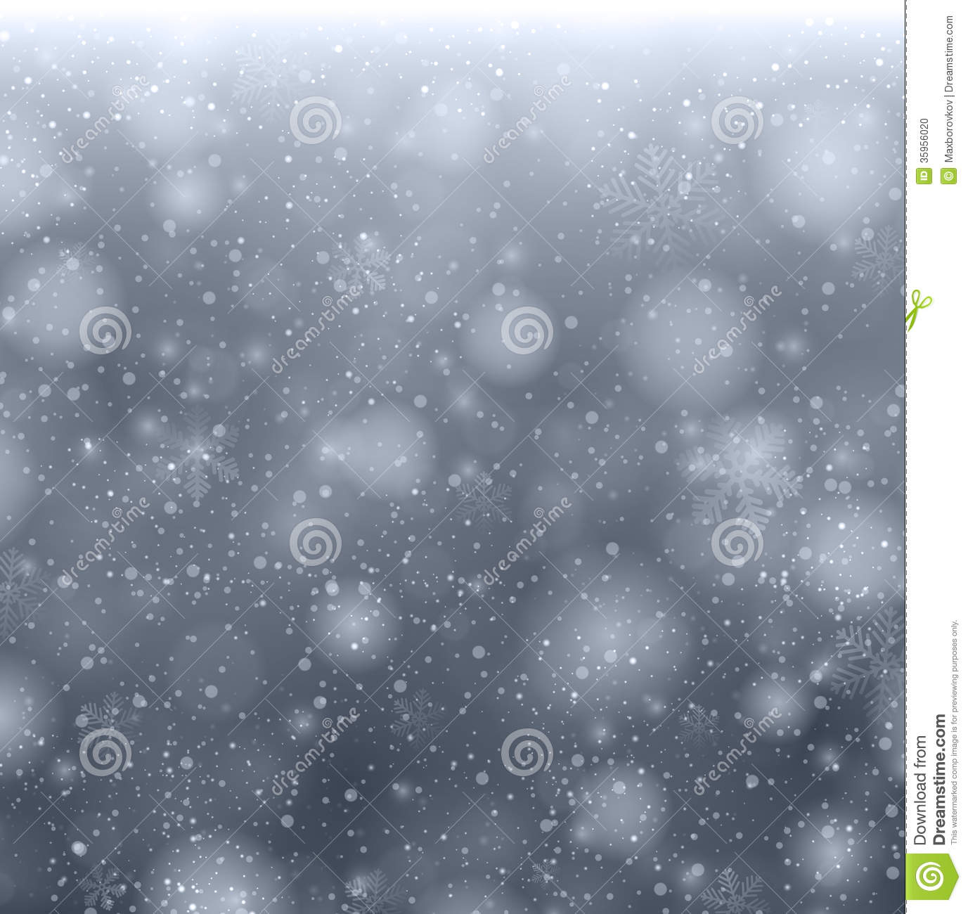 Christmas Grey Background With Snowflakes Stock Photo