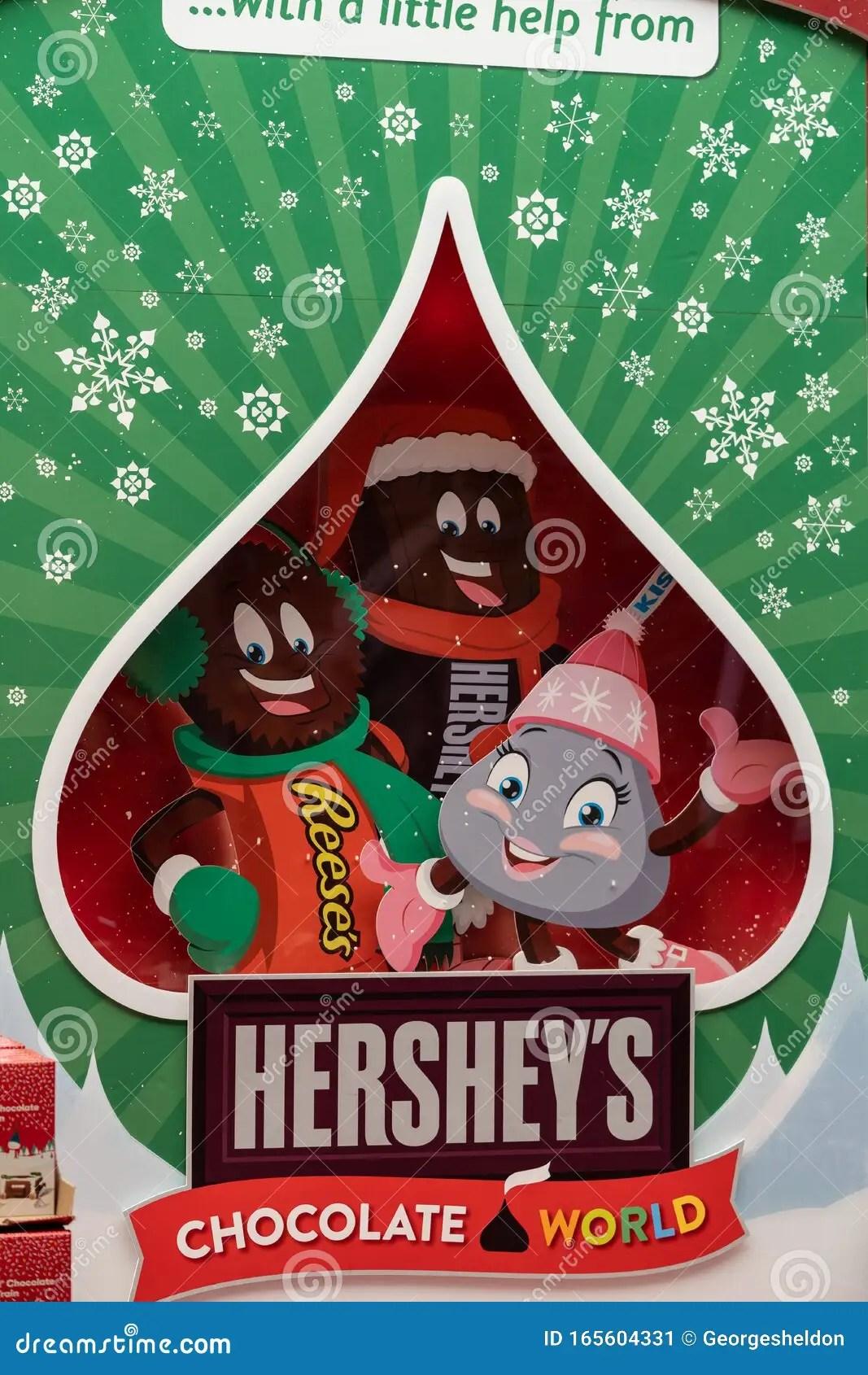 The Christmas Hershey S Kisses Display Editorial Photo