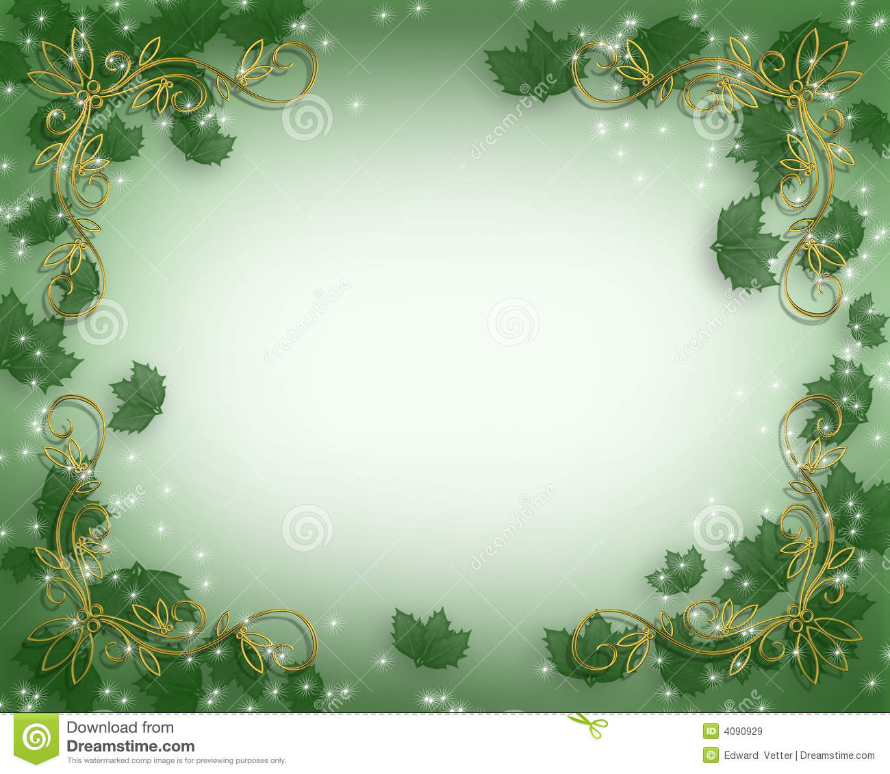 Christmas Holly Border Royalty Free Stock Images Image