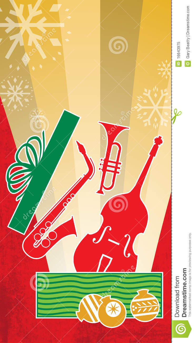 Christmas Jazz Concert Red Stock Illustration Image Of