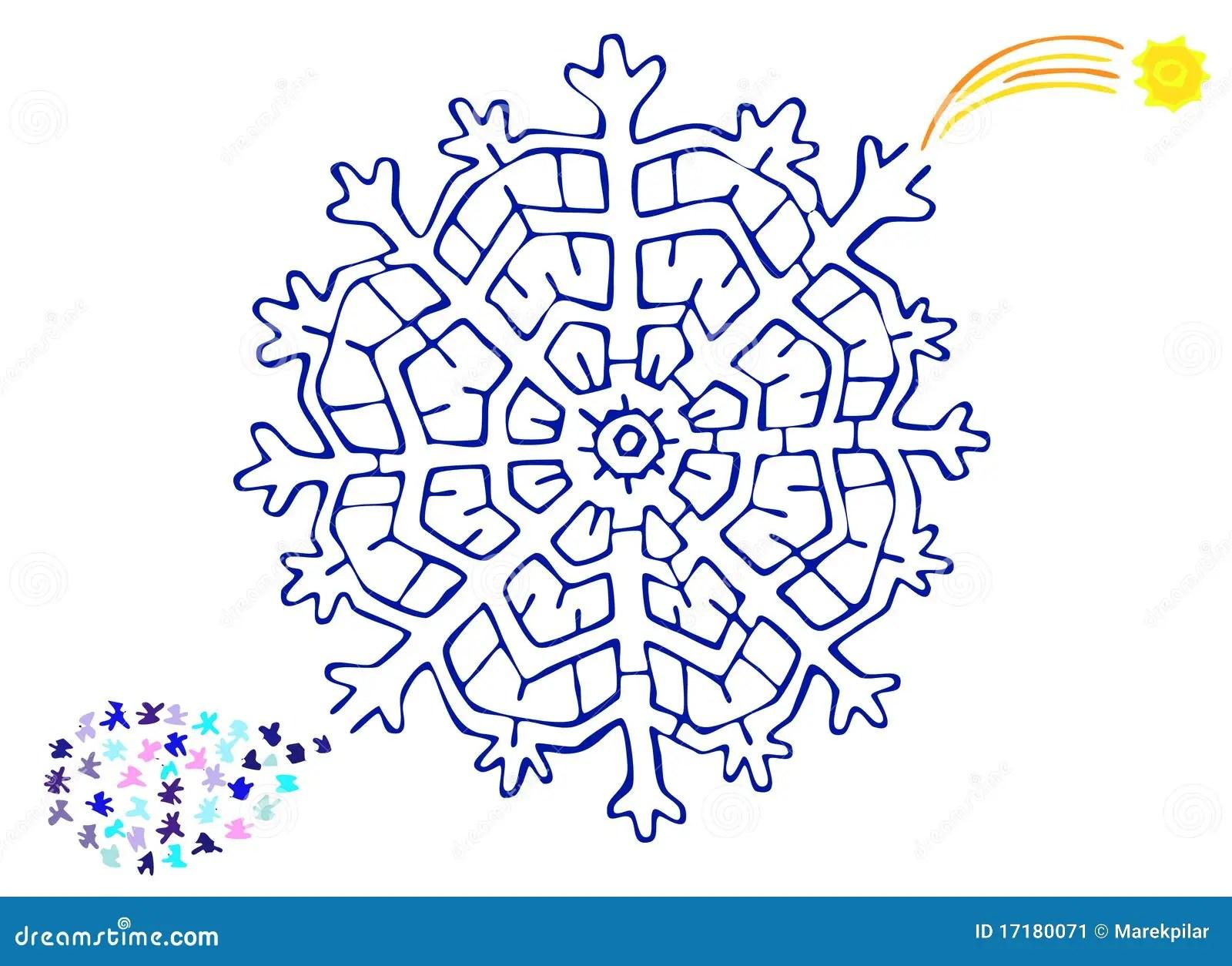 Christmas Labyrinth Stock Image
