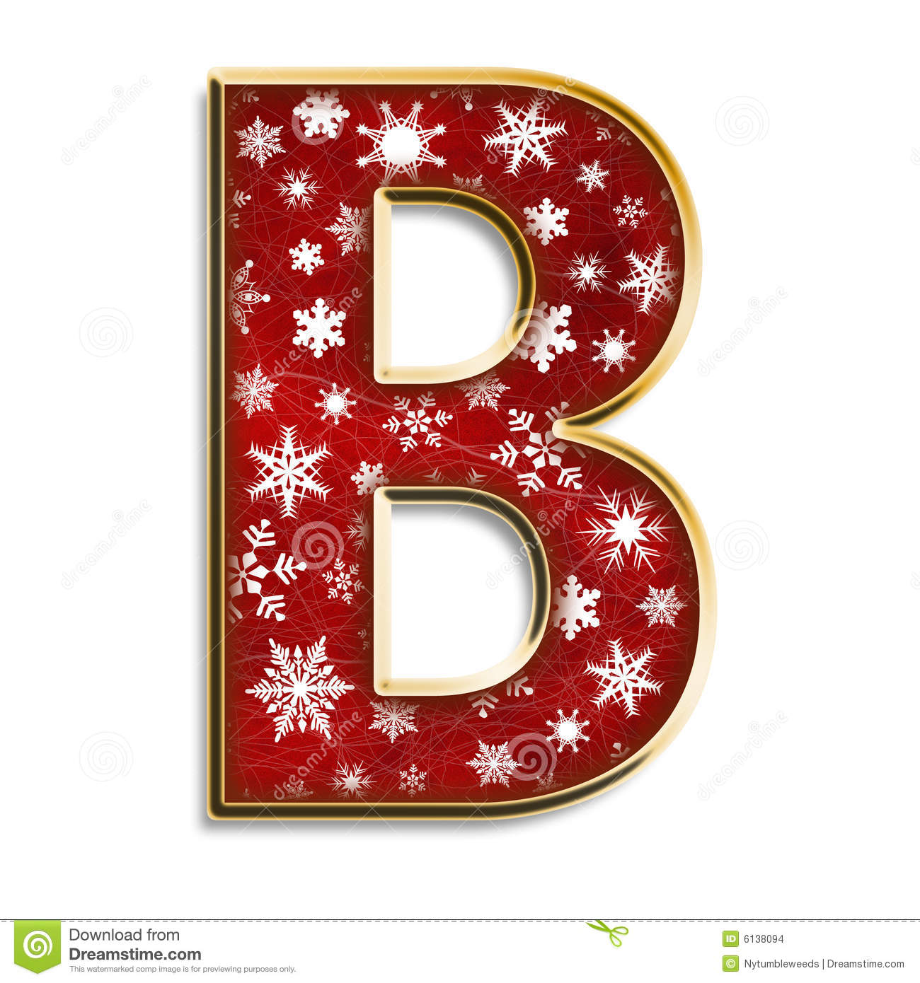 Christmas Letter B In Red Stock Images