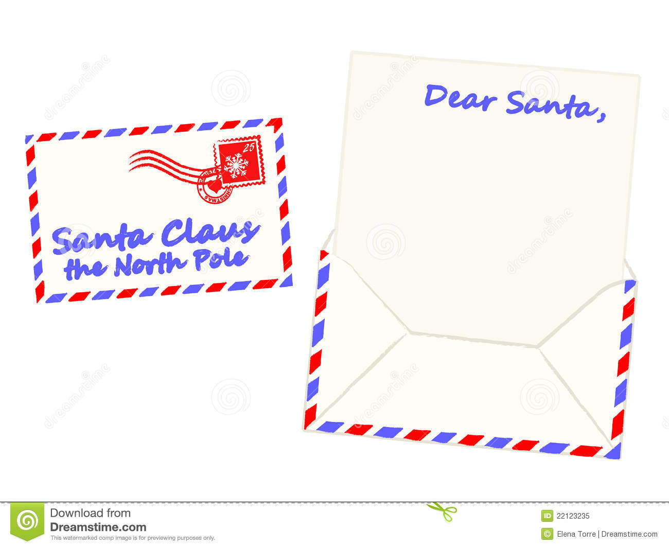 Christmas Letter To Santa Claus Vector Royalty Free Stock
