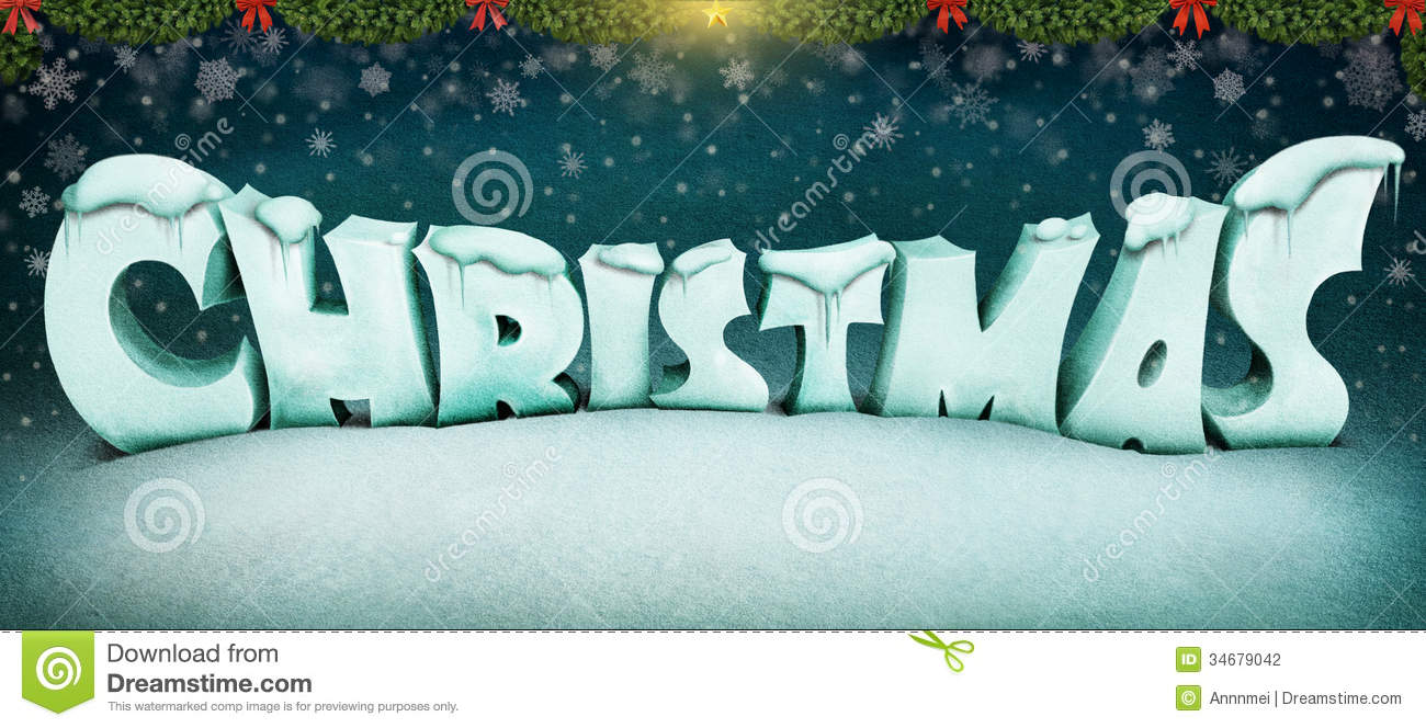 Christmas Letters Stock Photography Image 34679042
