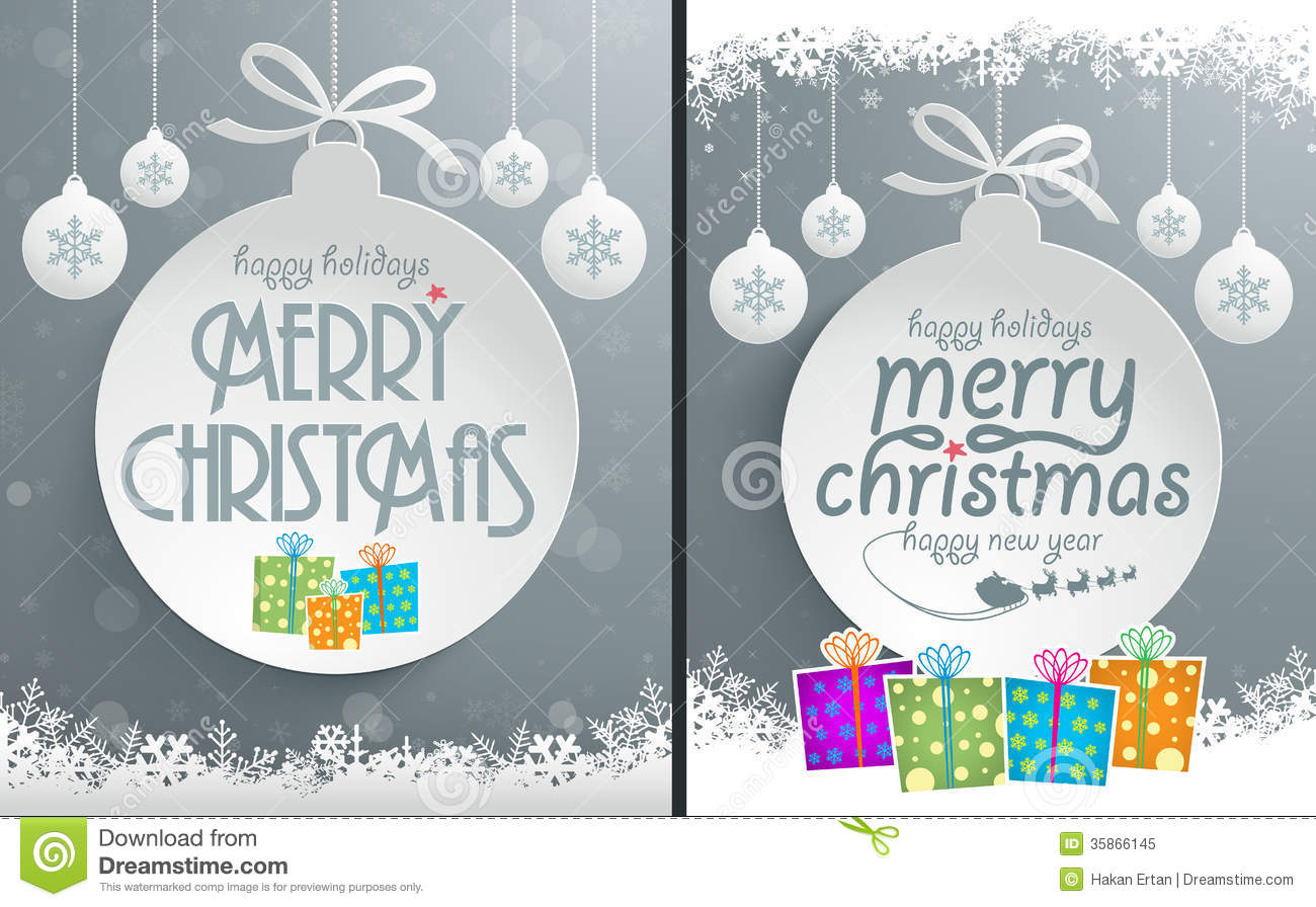 Christmas Message Design Stock Vector Illustration Of