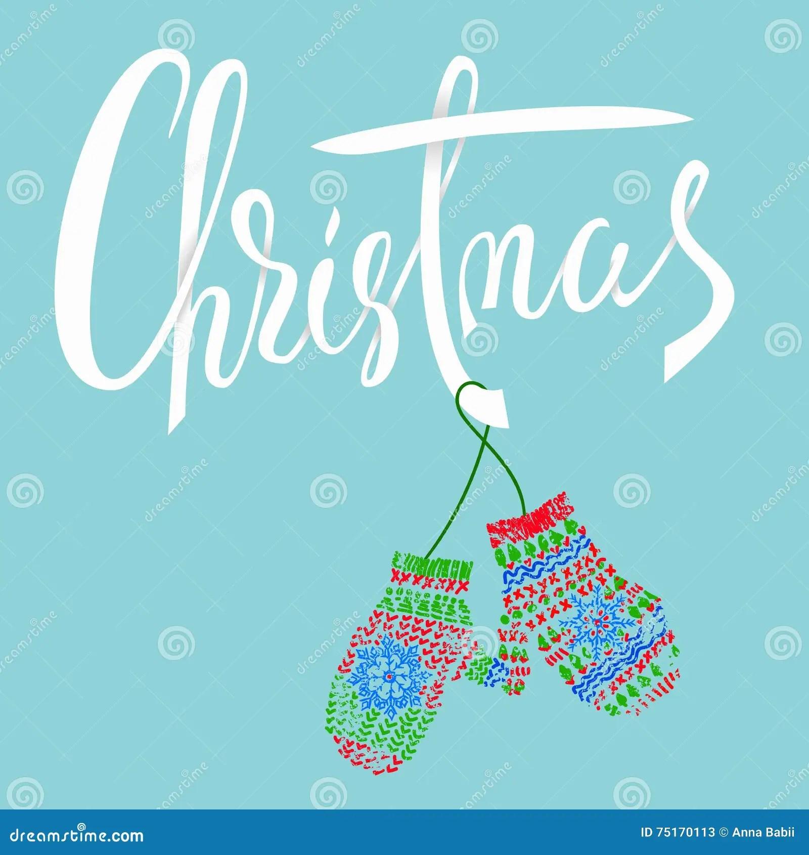 Christmas Modern Calligraphy For Christmas Cards And