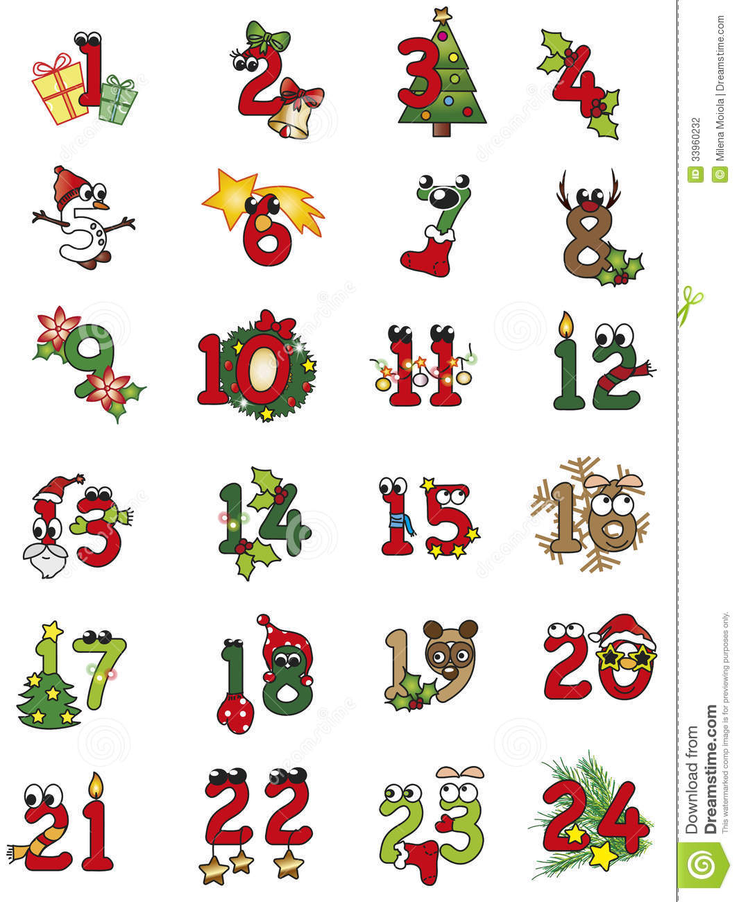 Search Results For Advent Christmas Numbers To Print