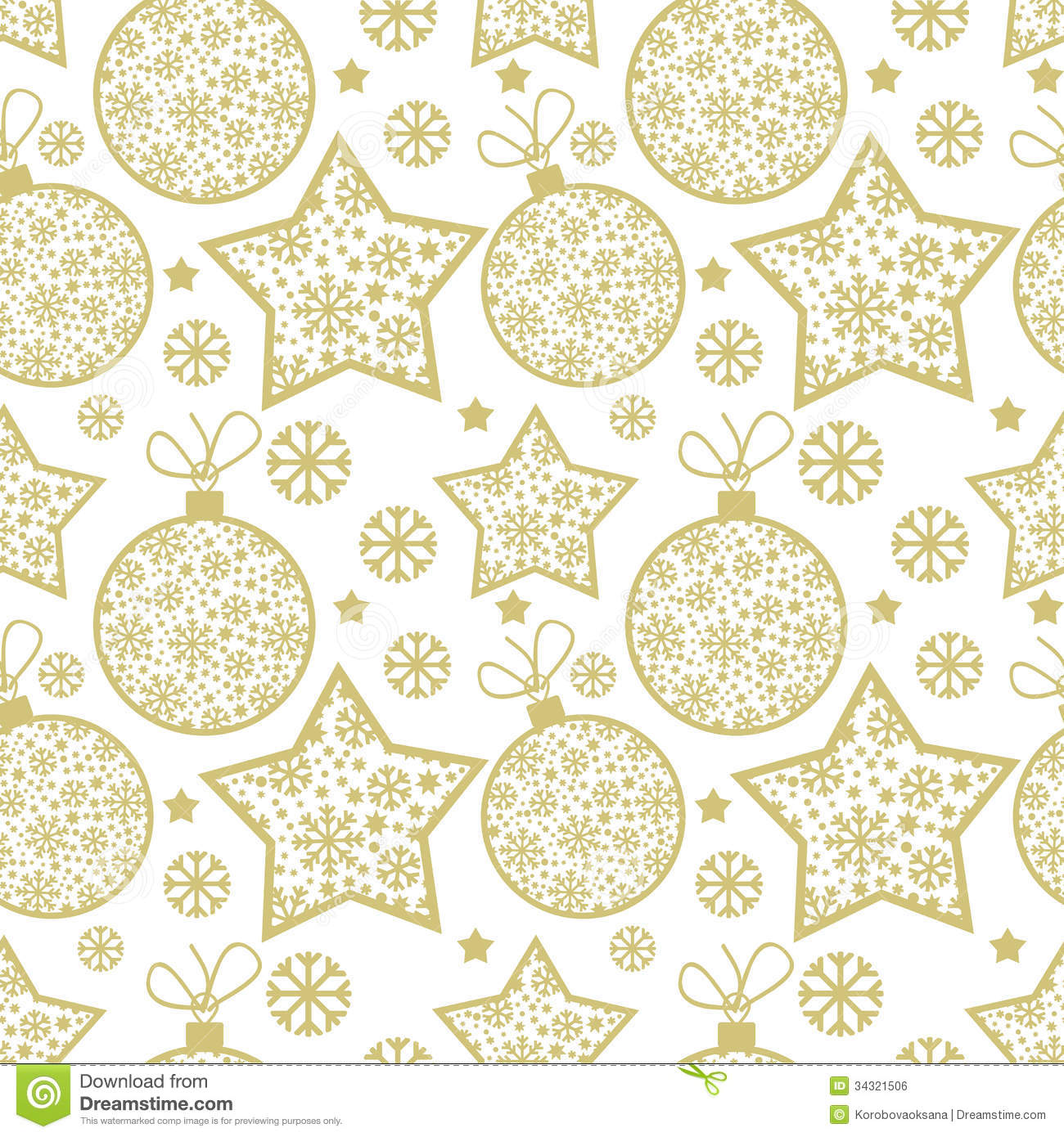 Christmas Pattern With Decorative Elements Royalty Free