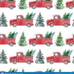Red Christmas Truck Seamless Pattern On White Background Holiday Motif Vintage Red Pickup Car With Pine Fir Trees Hand Drawn Stock Illustration Illustration Of Holiday Design 164954352