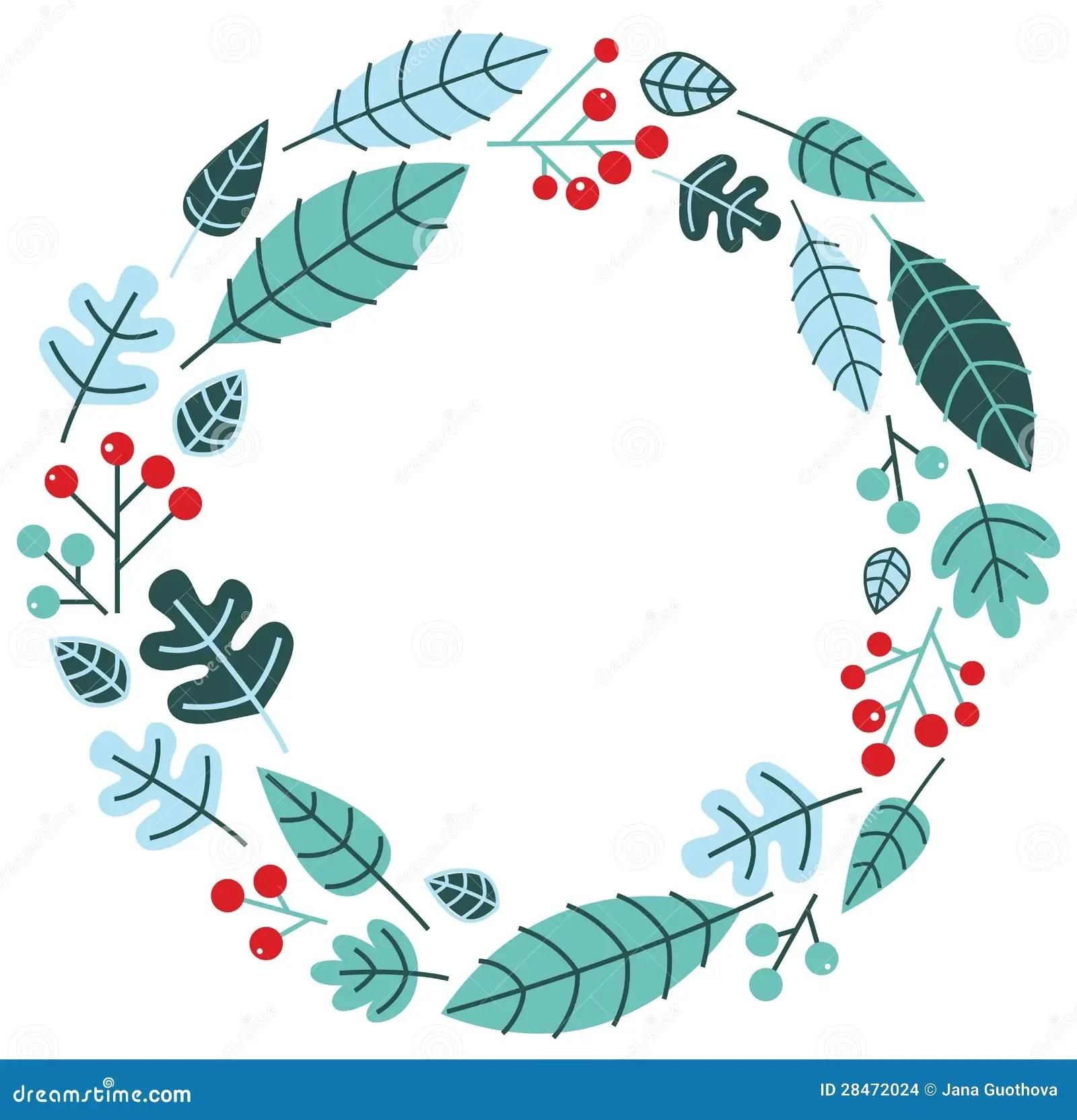 Christmas Retro Holiday Wreath Stock Images Image 28472024