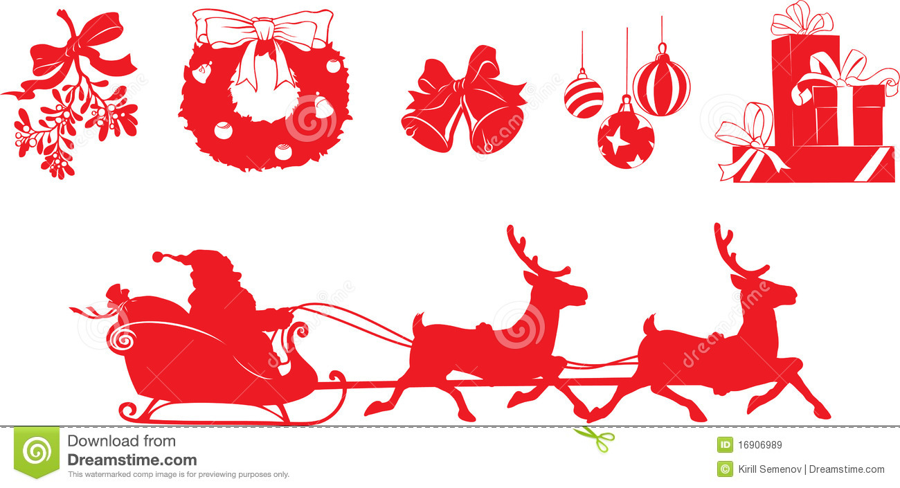 Christmas Shapes Royalty Free Stock Images Image 16906989