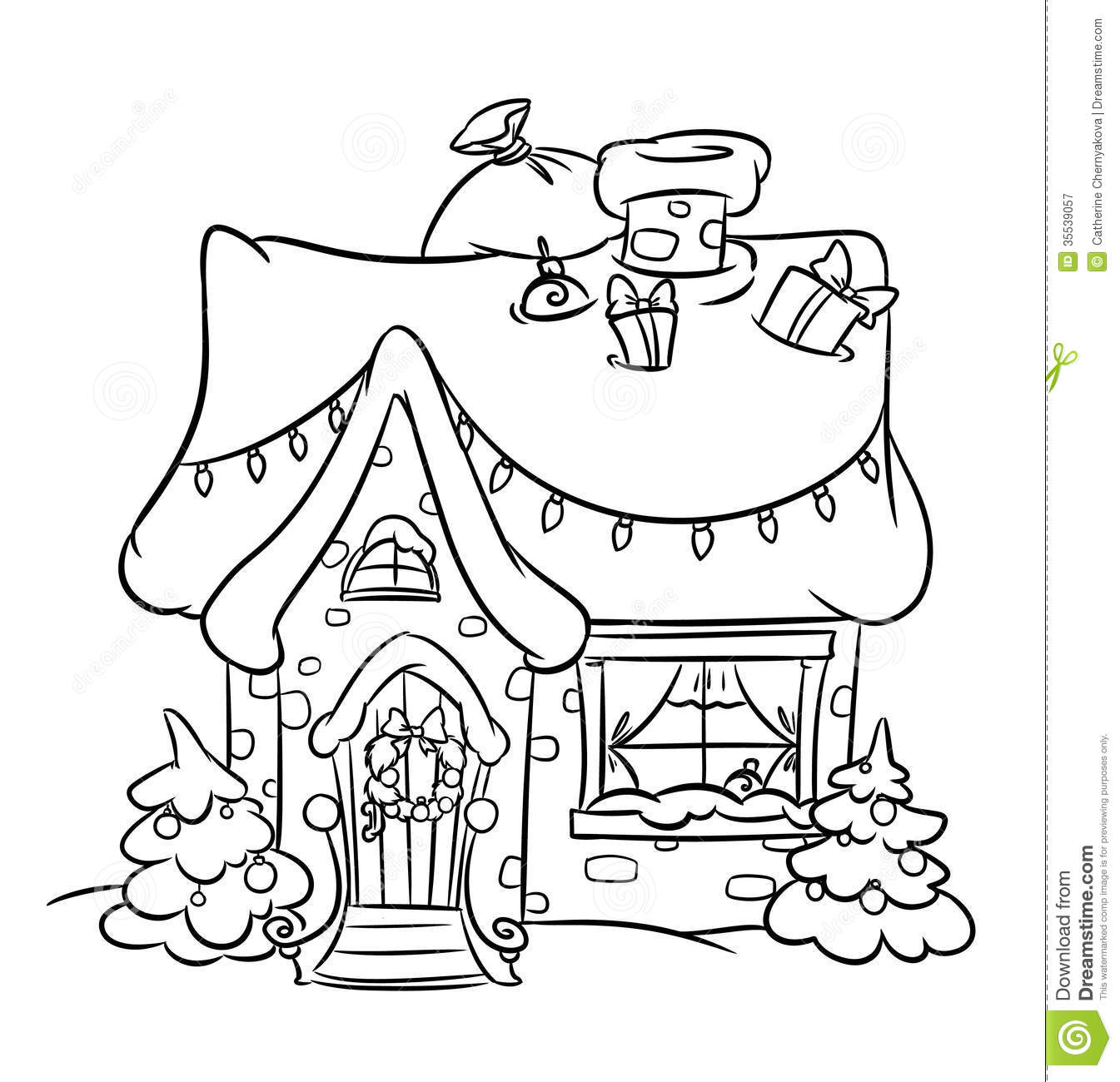 Christmas Snow House Stock Illustration Illustration Of