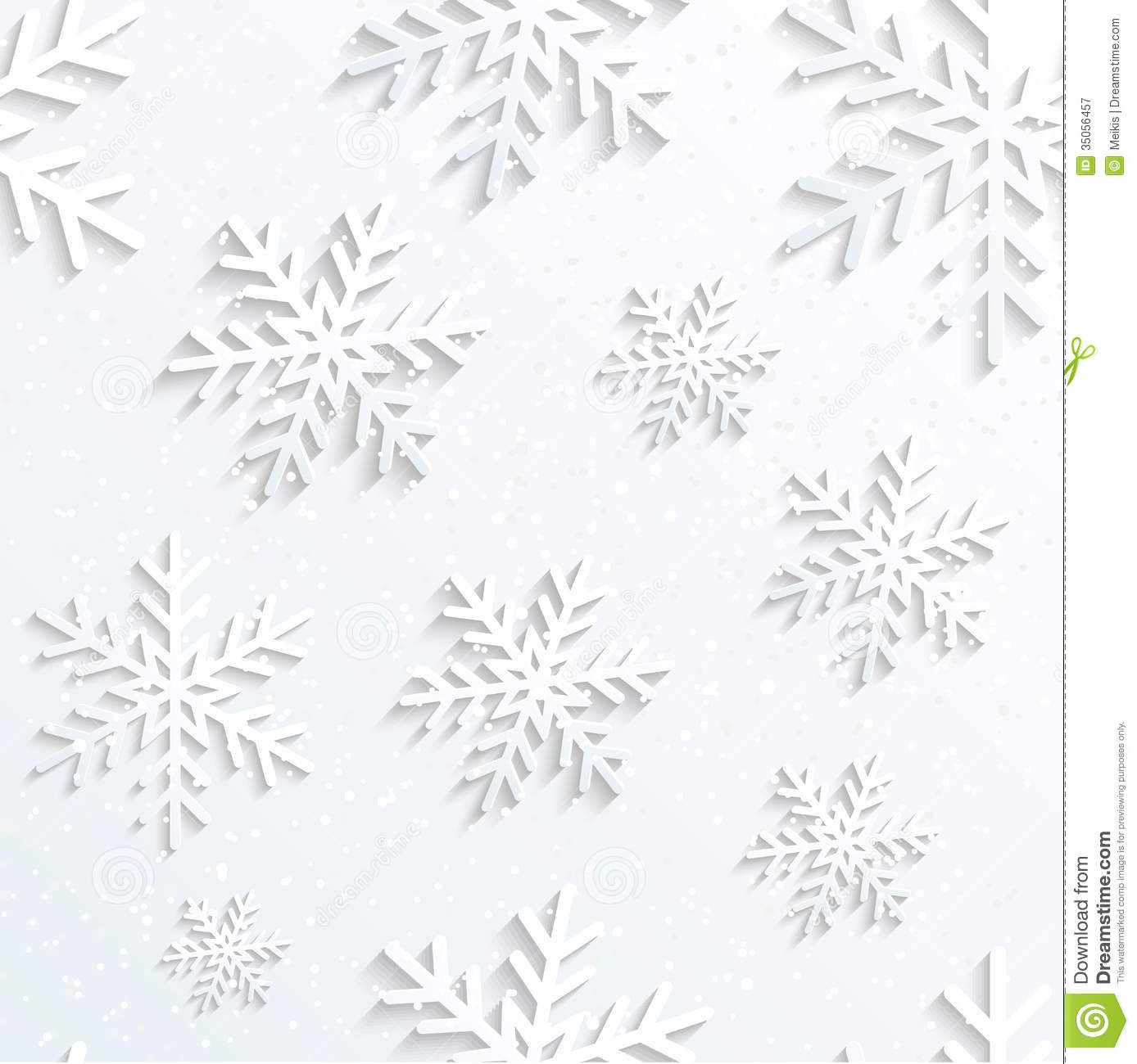 Christmas Snowflake Background Royalty Free Stock
