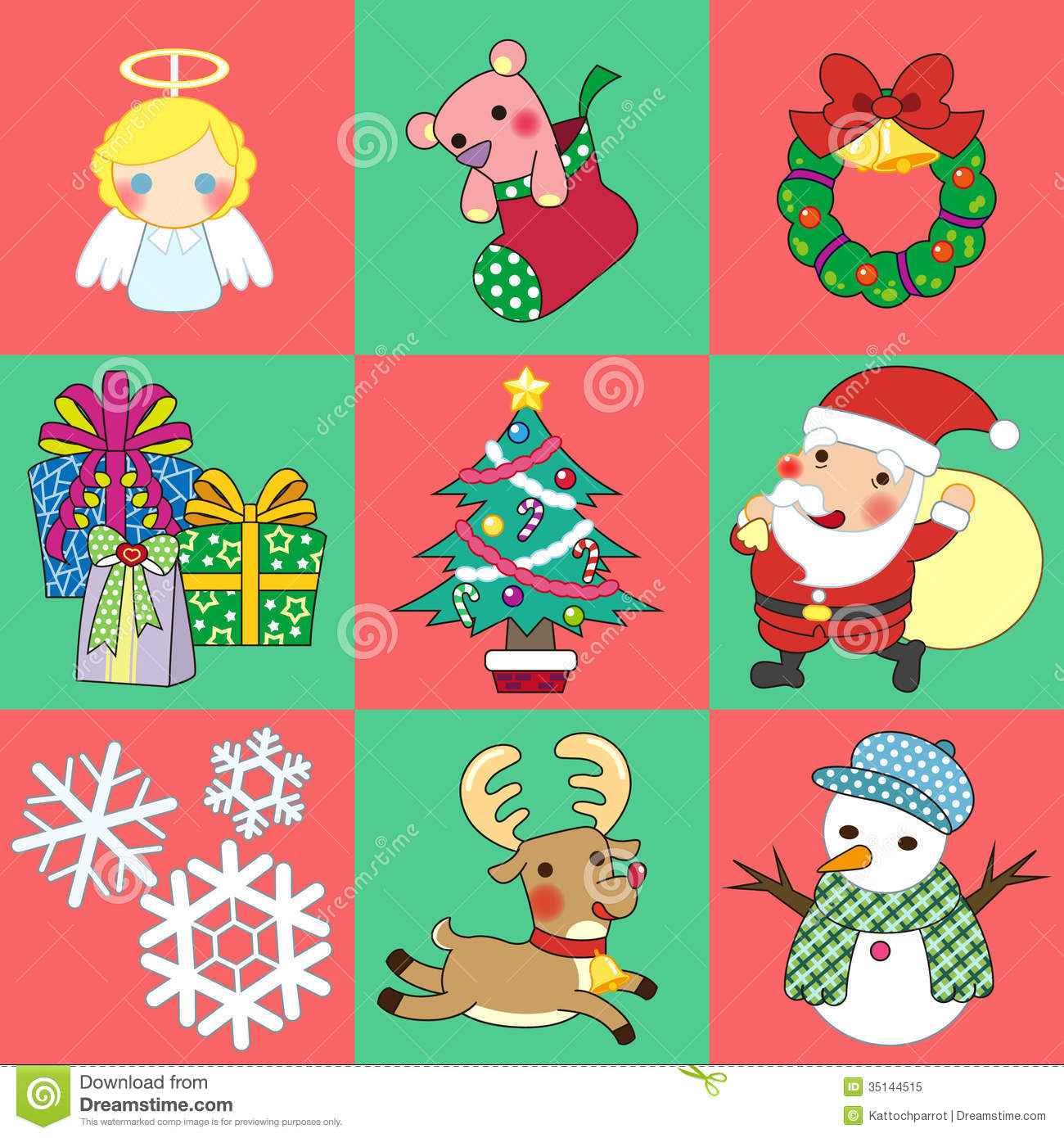 Christmas Stock Vector Image Of Greeting Claus