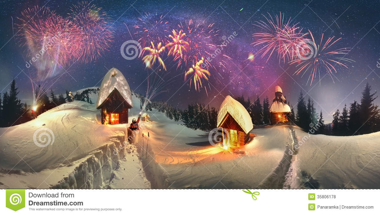 Christmas Tale For Climbers Stock Photo Image 35806178