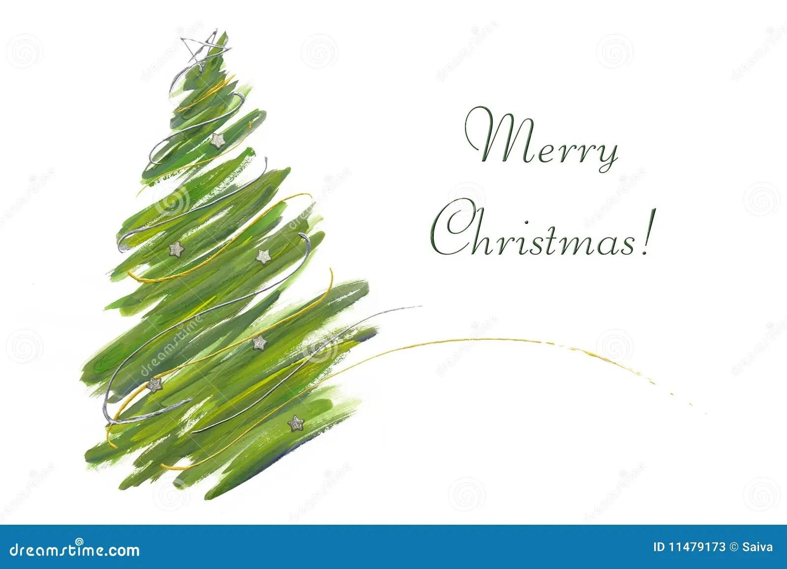 Christmas Tree Card Stock Photos Image 11479173