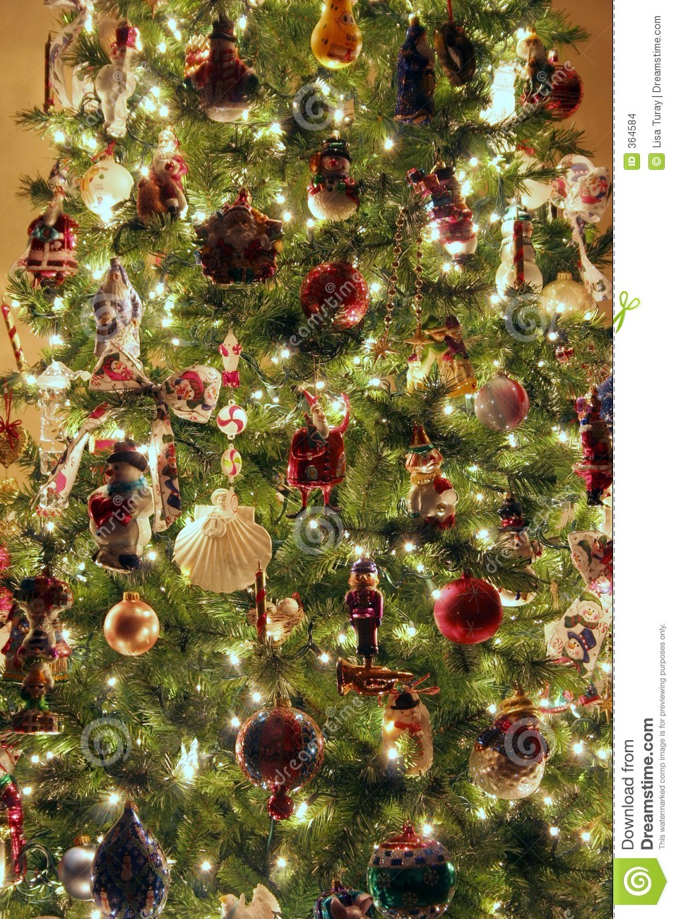 Christmas Tree Close Up Stock Photo Image Of Glittering