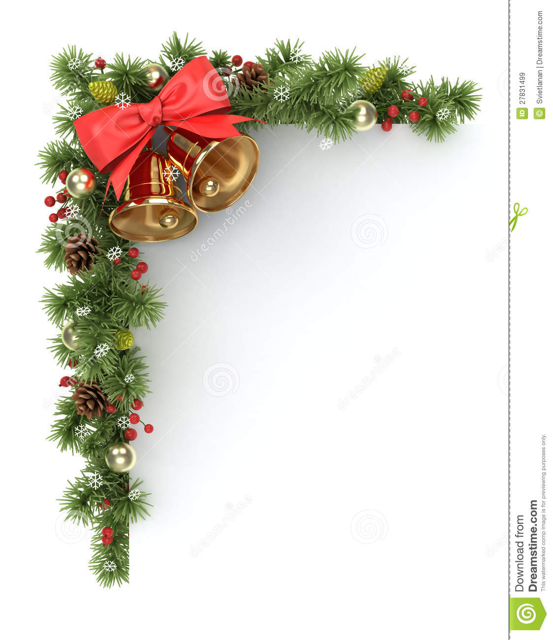 Christmas Tree Corner Stock Illustration Image Of