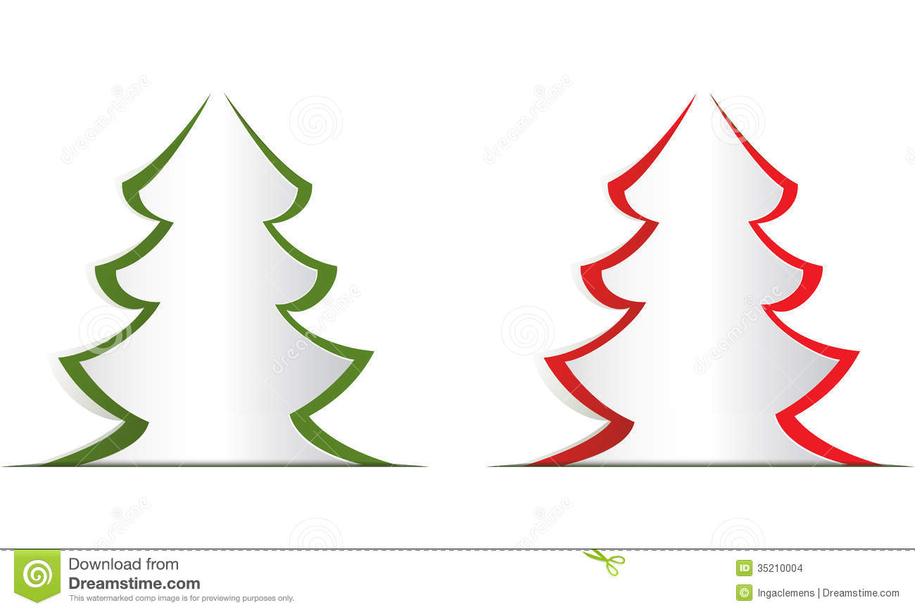 Christmas Tree Stock Illustration Illustration Of Cutout