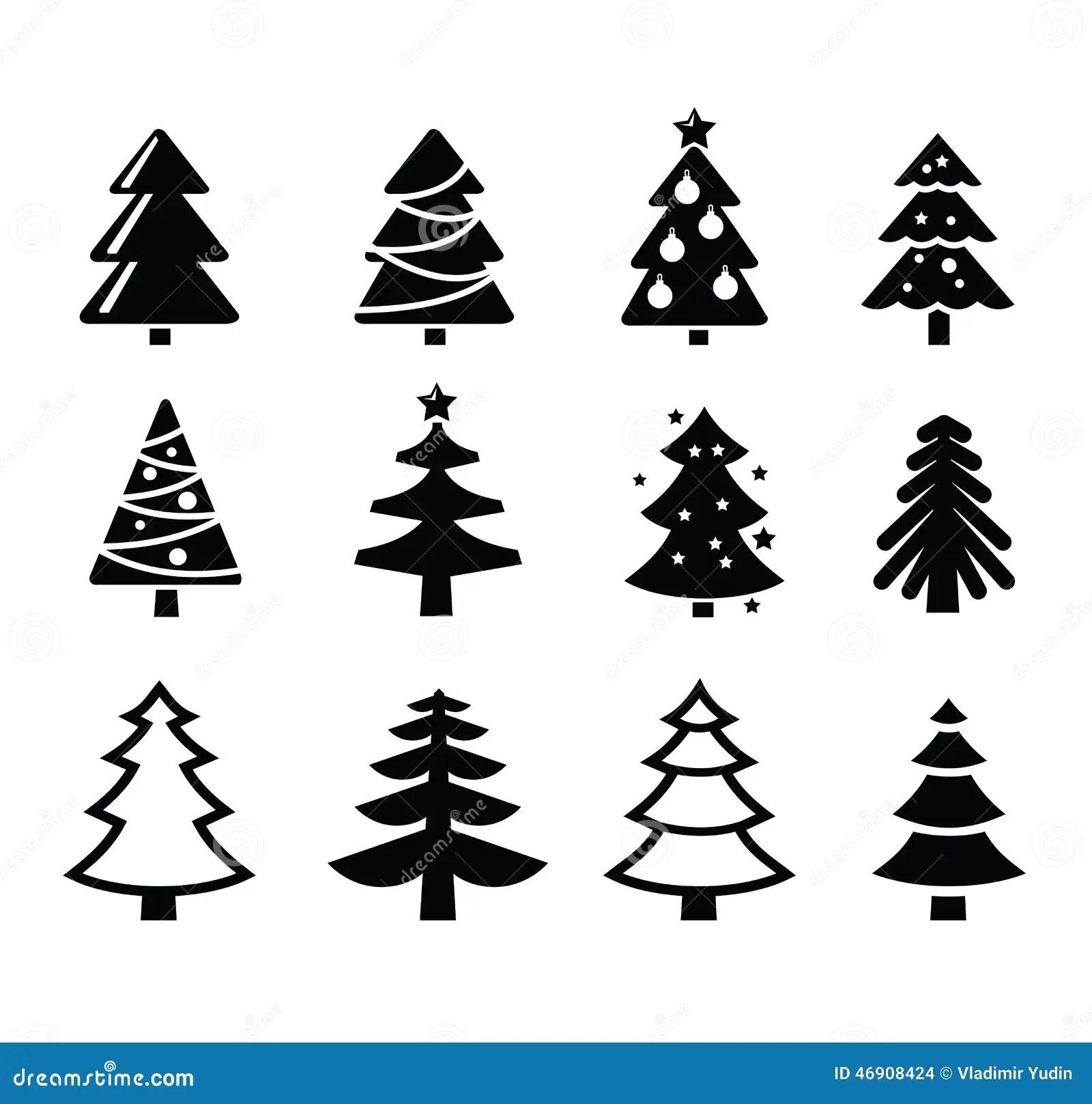 Christmas Tree Stock Vector Illustration Of Pictogram