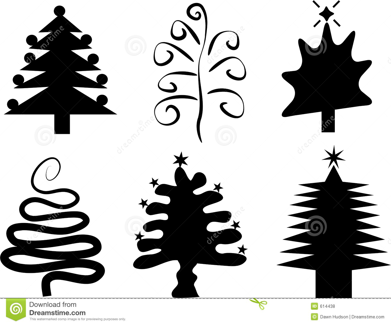 Christmas Trees Stock Vector Illustration Of Elements
