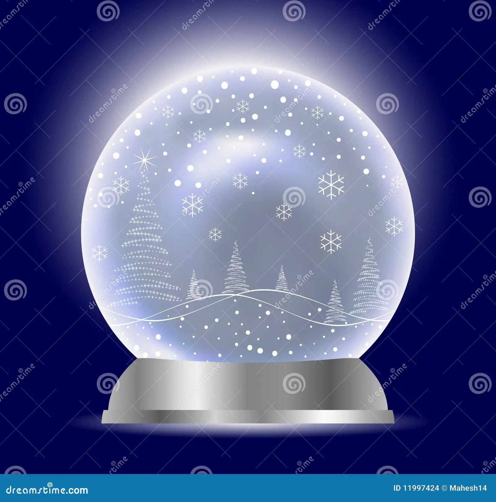 Christmas Vector Snow Globe Stock Vector Illustration Of