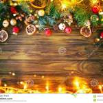 Christmas Winter Background A Table Decorated With Fir
