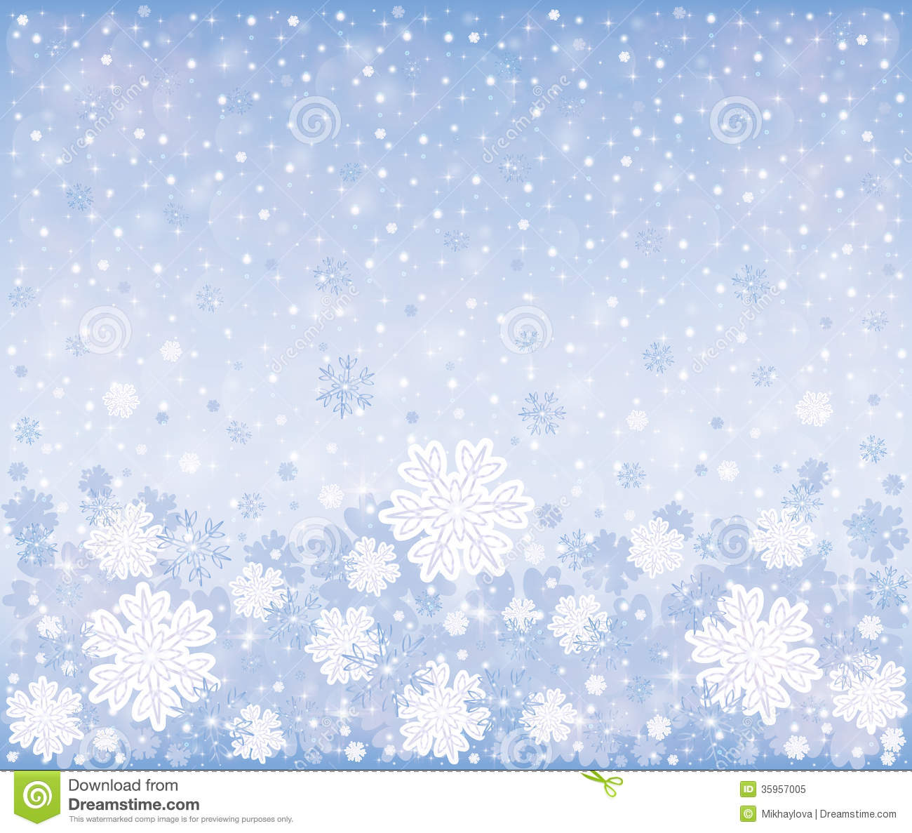 Christmas Winter Frosty Background Stock Vector