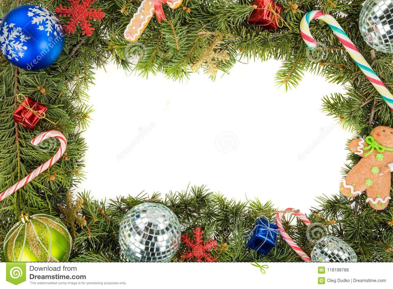 Christmas Wreath Border Stock Photo Image Of T
