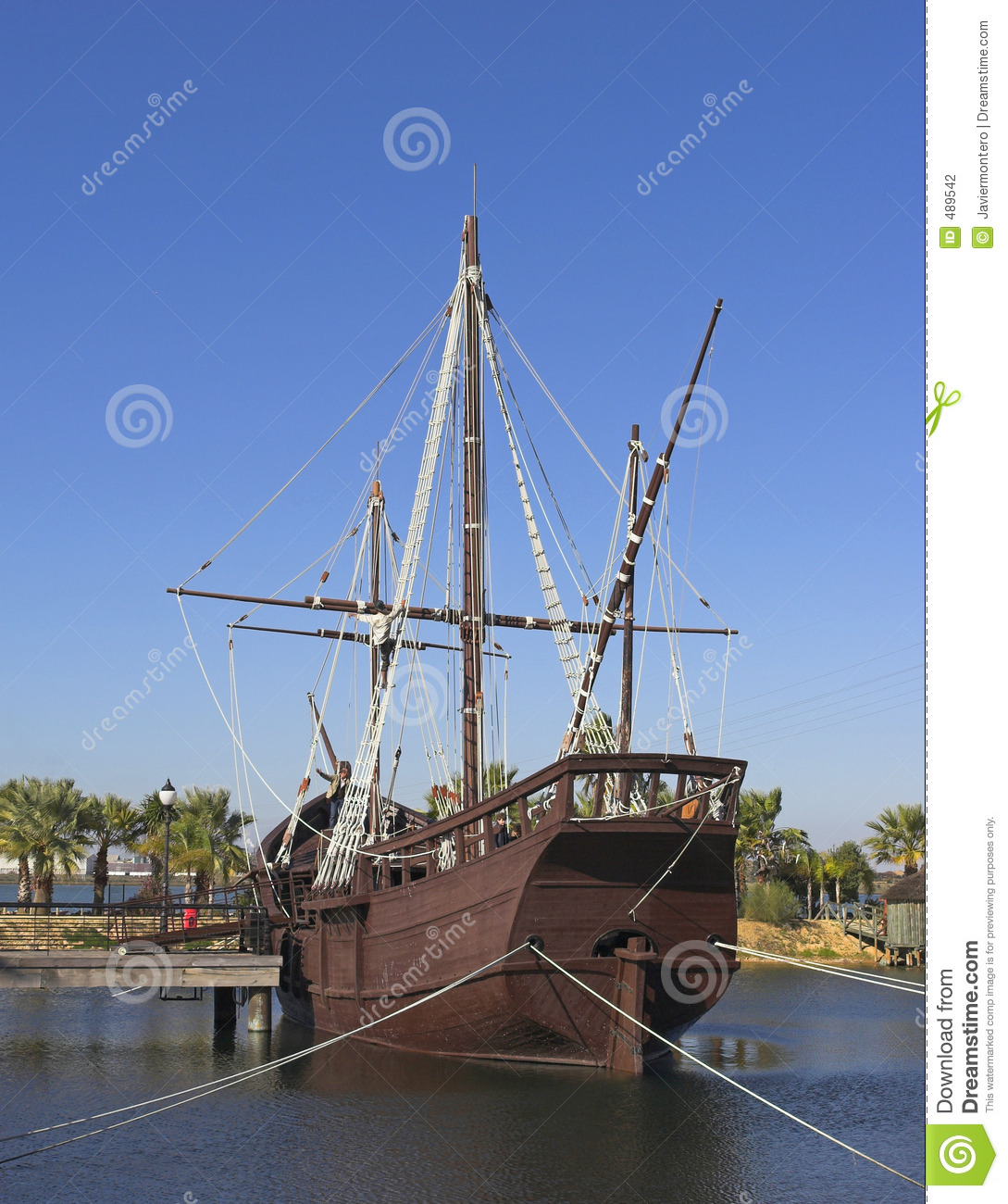 Christopher Columbus Ships Stock Photo Image Of Discovery