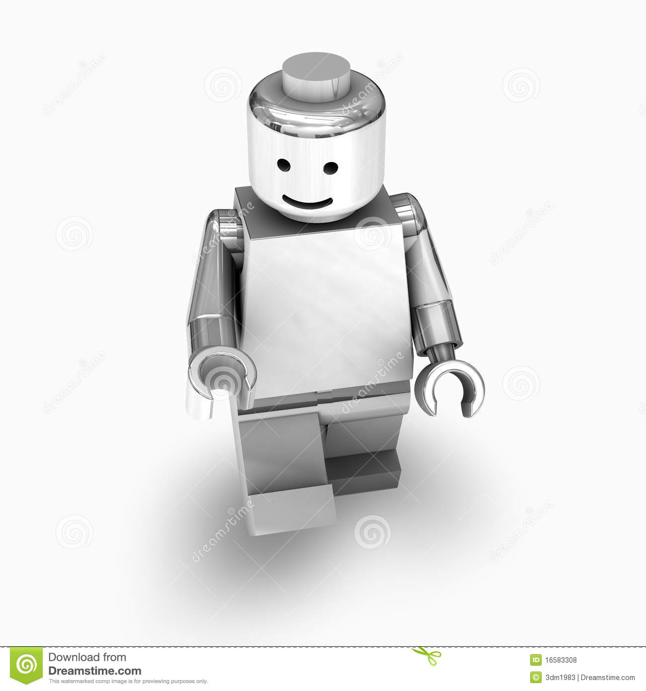 Chrome lego man editorial stock photo  Illustration of robotic     Chrome lego man