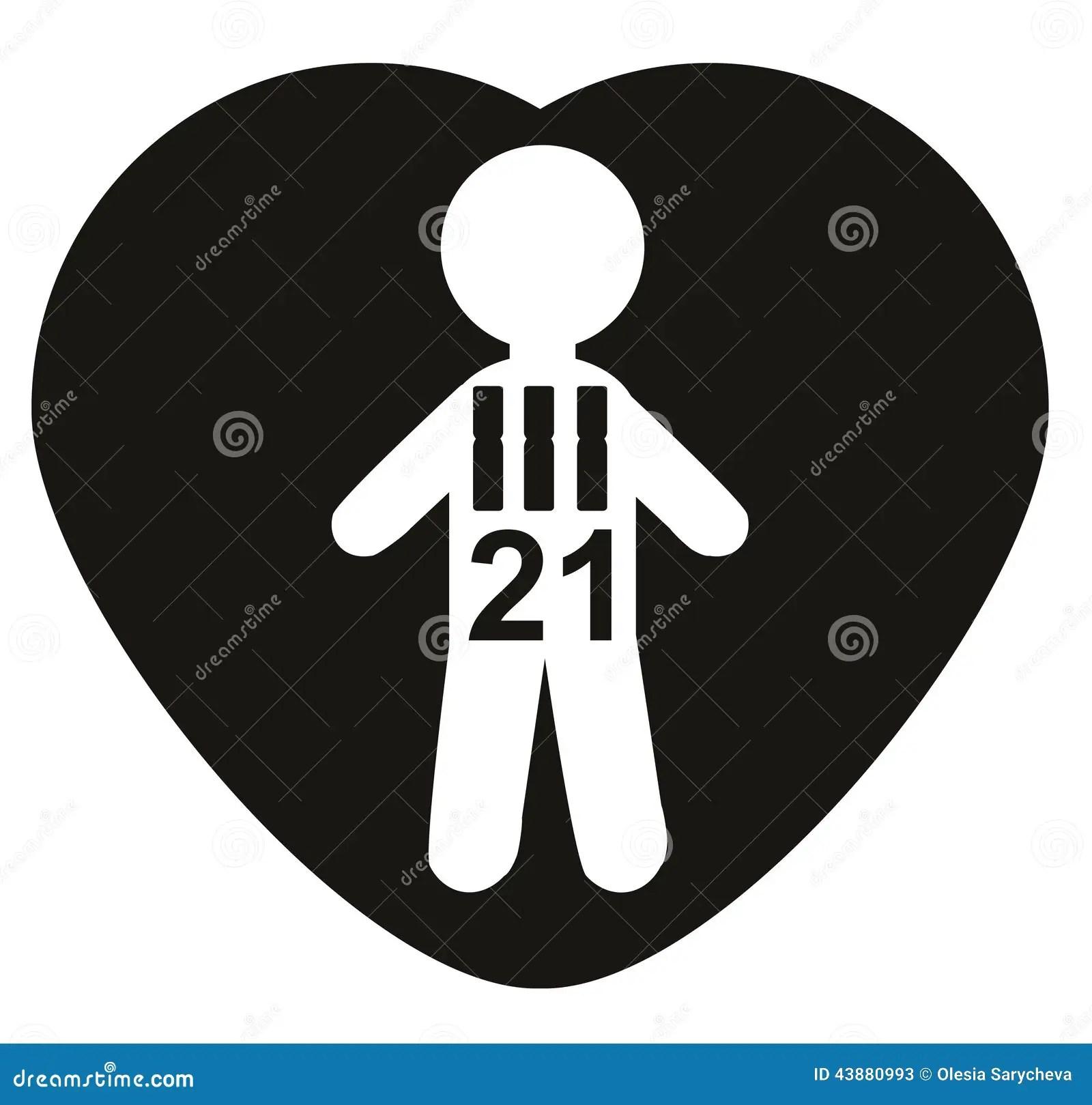 Chromosomes 21 Trisomy 21 Down Syndrome Concept Stock