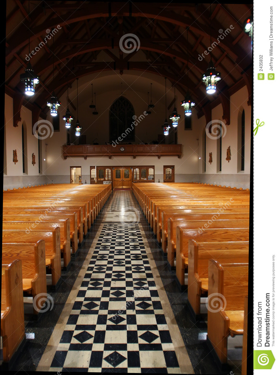 Church Aisle Stock Photography Image 2435832