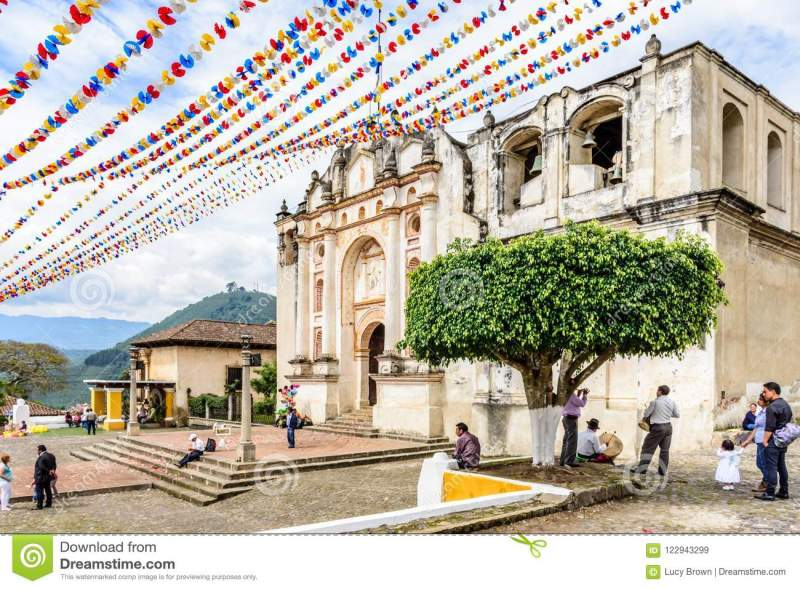 Church Decorated For Corpus Christi Guatemala