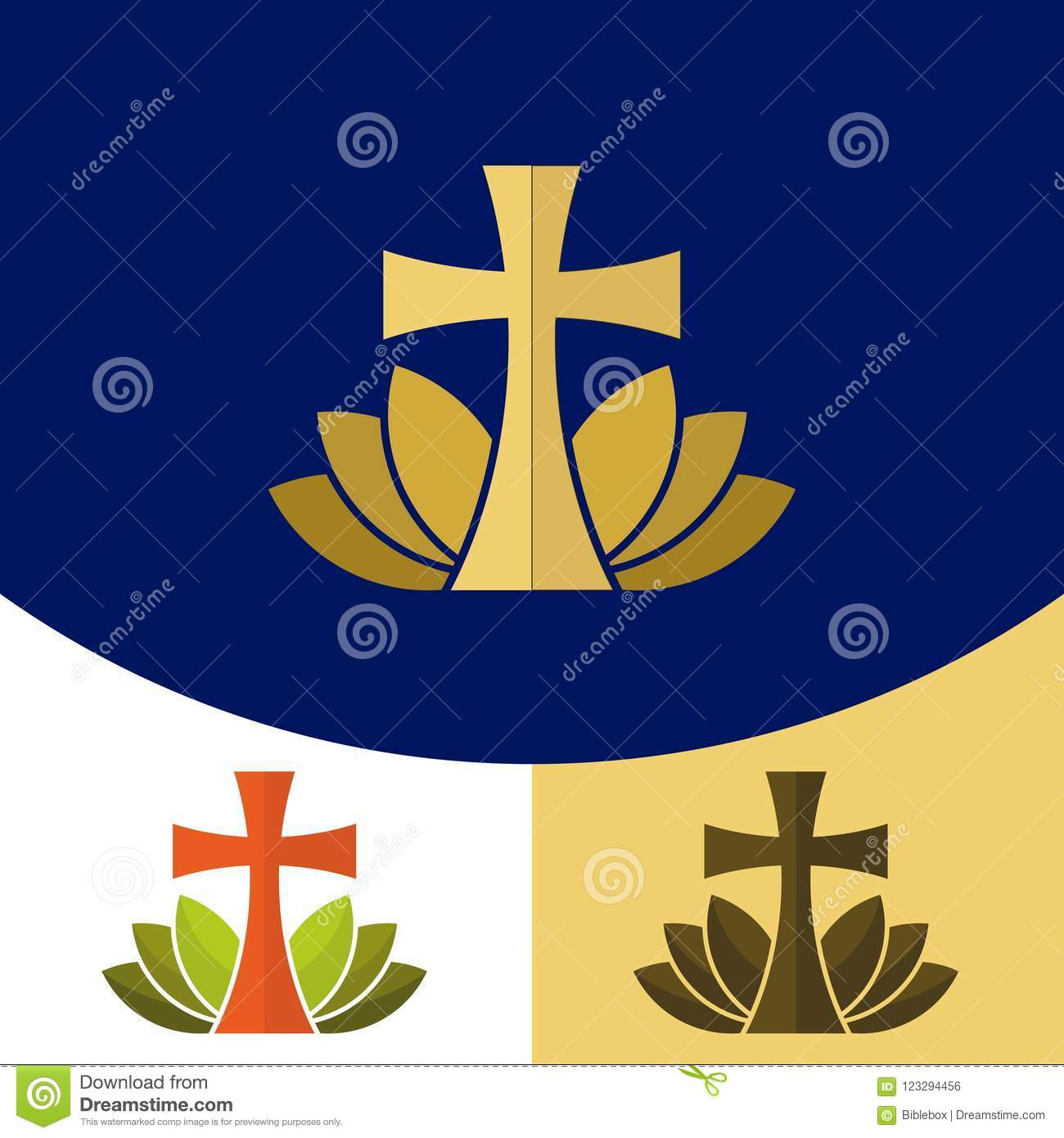 Church Logo Christian Symbols The Cross Of Jesus Christ