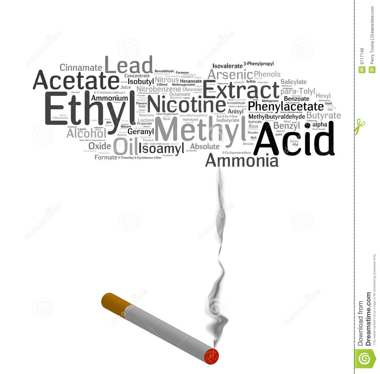 Cigarette Smoking Chemicals Royalty Free Stock Images