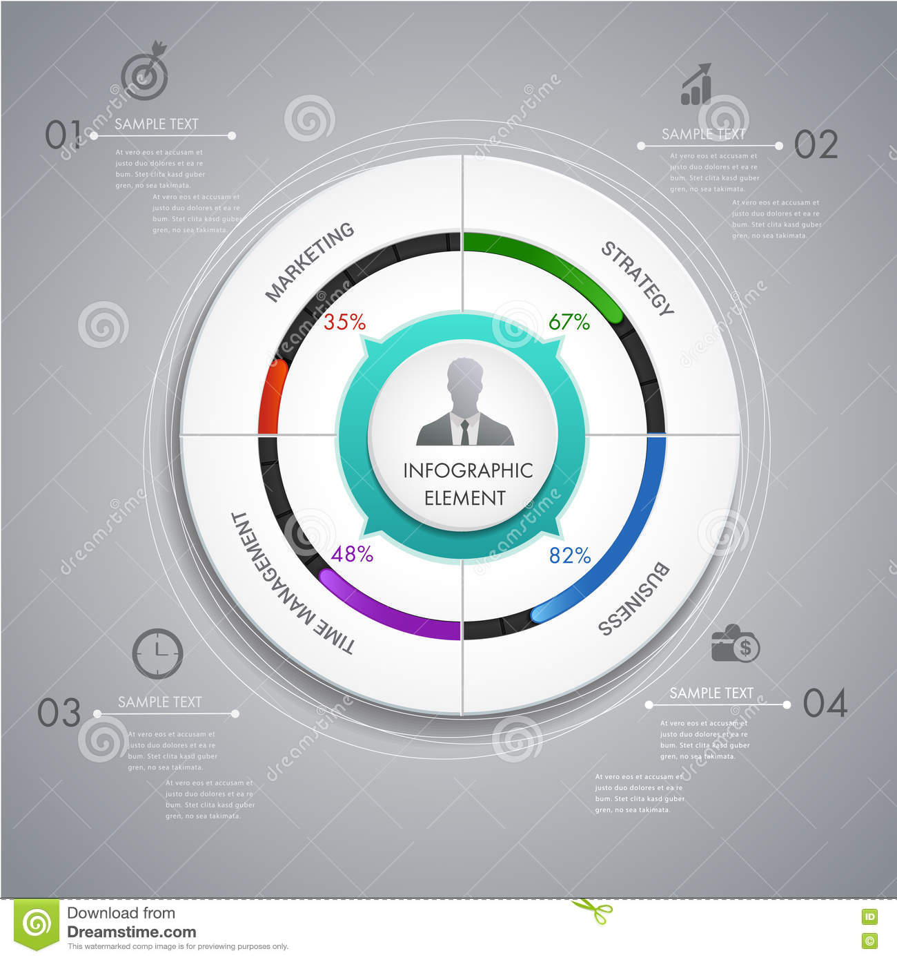 Circle Chart Layer Infographic Design For Presentation Business Stock Vector Image 73275639