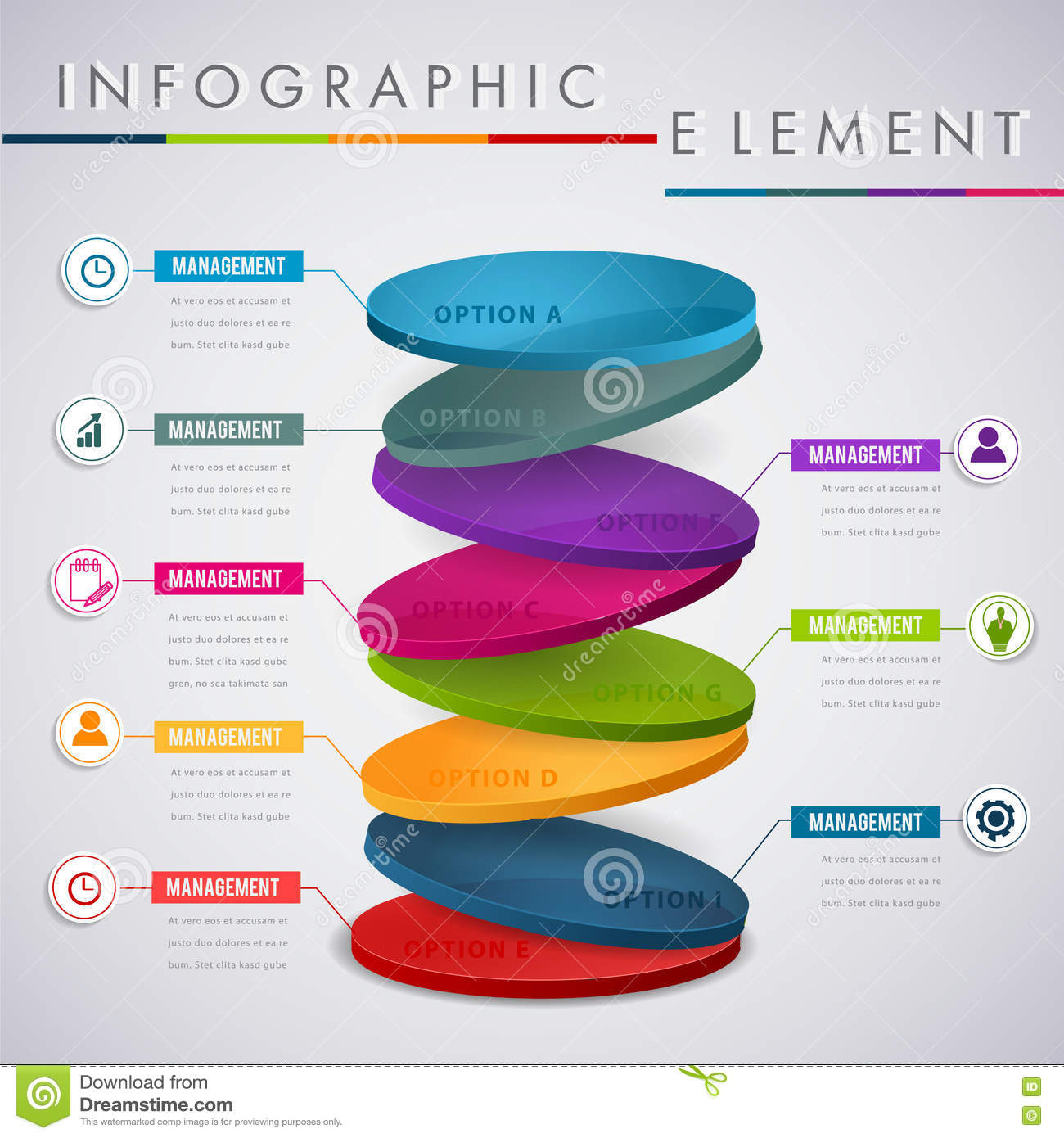 Circle Layer Infographic Design For Presentation Business