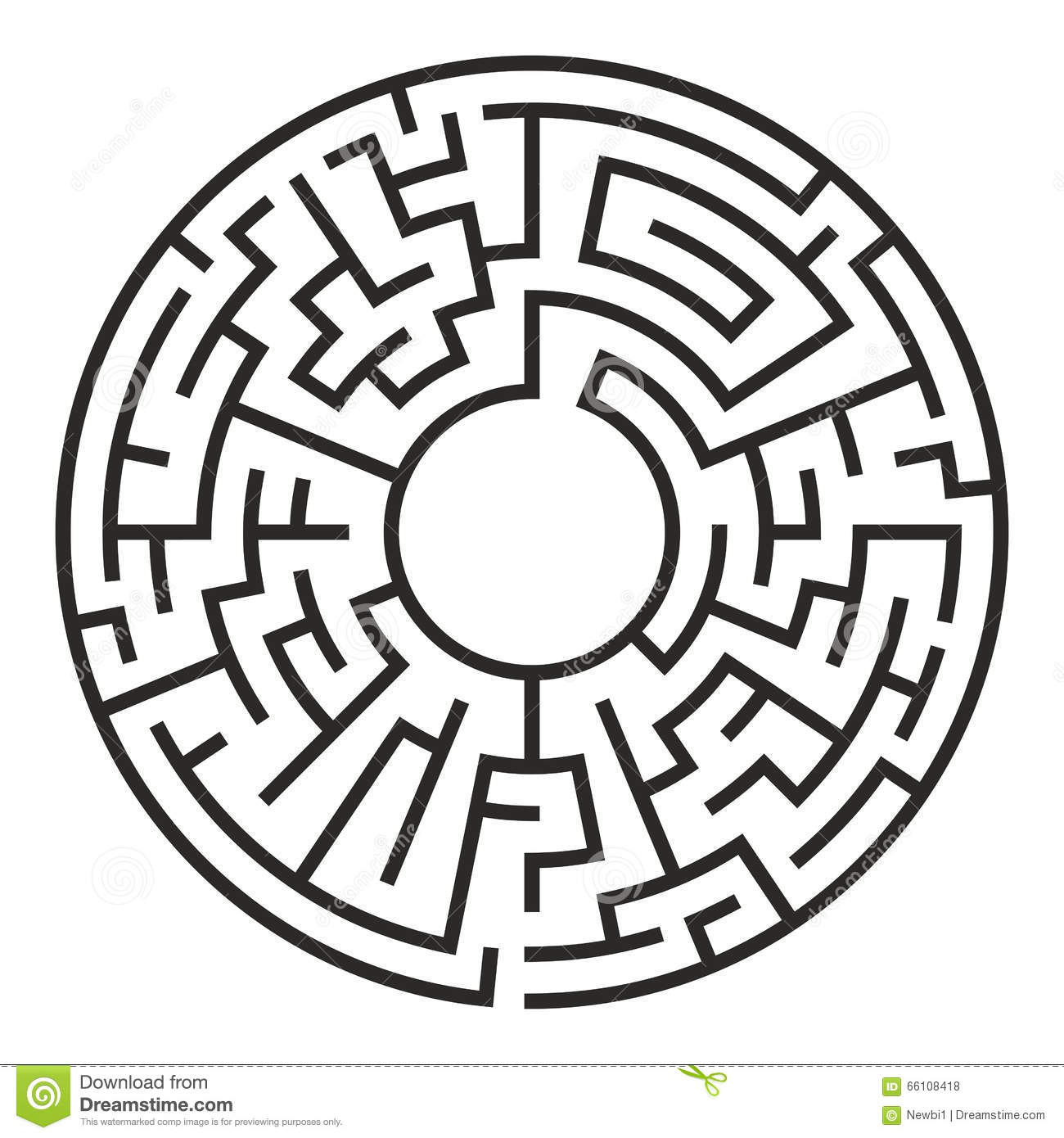 Circle Maze Vector Stock Vector Illustration Of Adversity