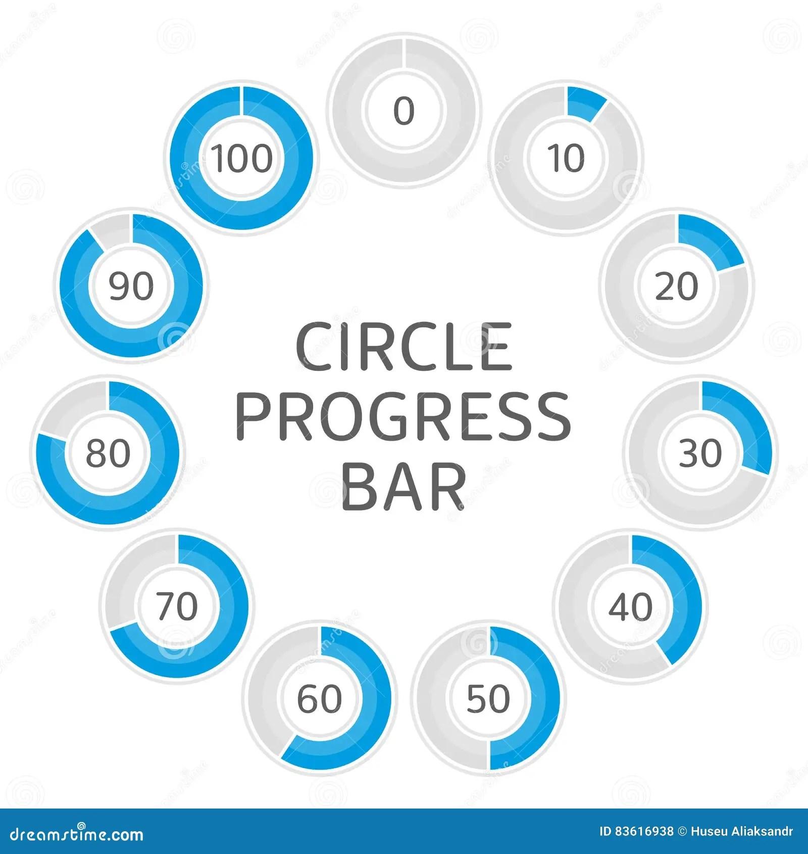 Circle Progress Bar Stock Vector Illustration Of Design