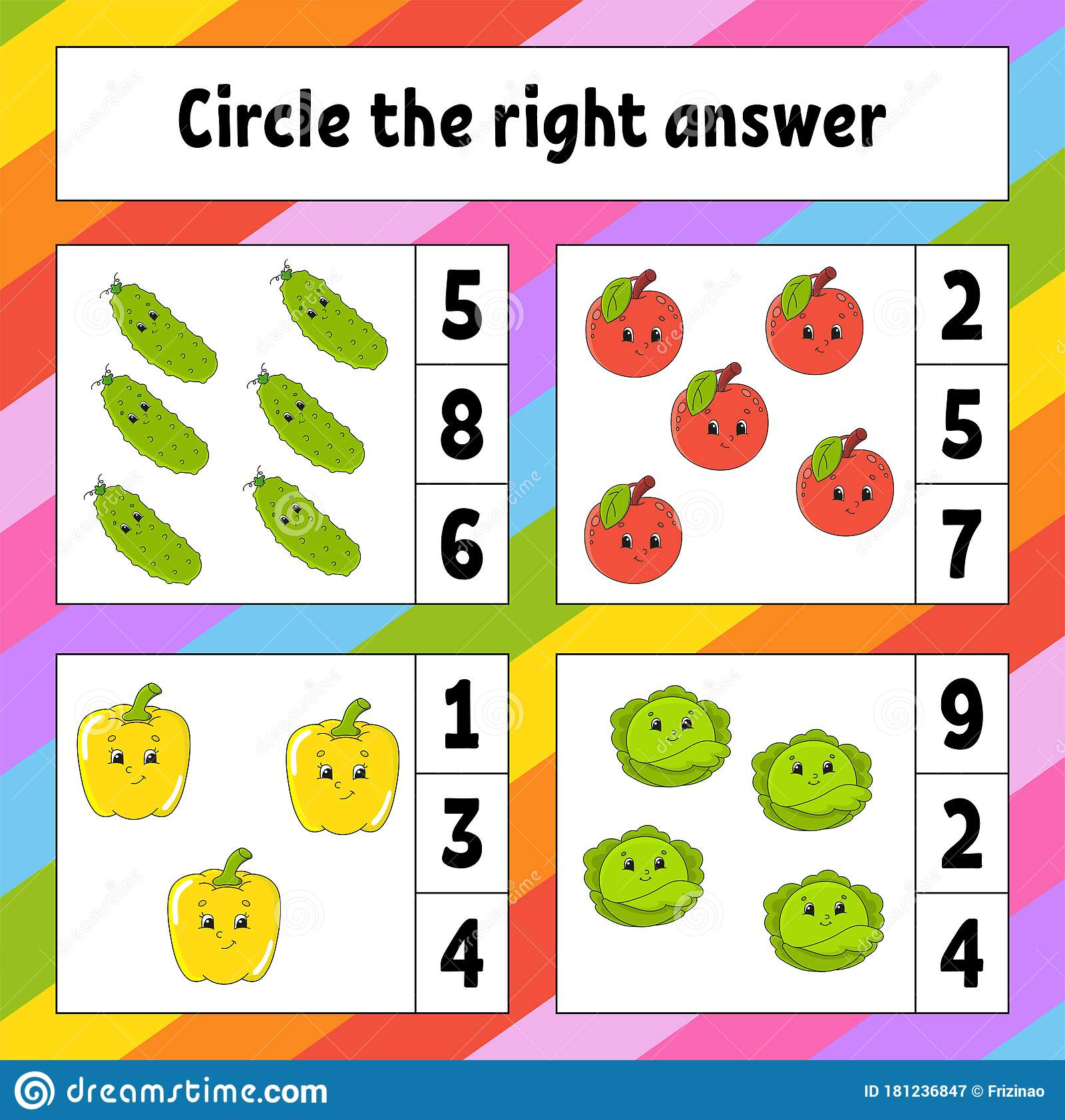 Circle The Right Answer Education Developing Worksheet