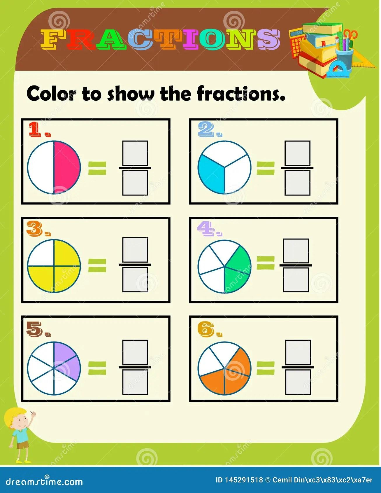 Circondi La Frazione Corretta La Matematica Foglio Di