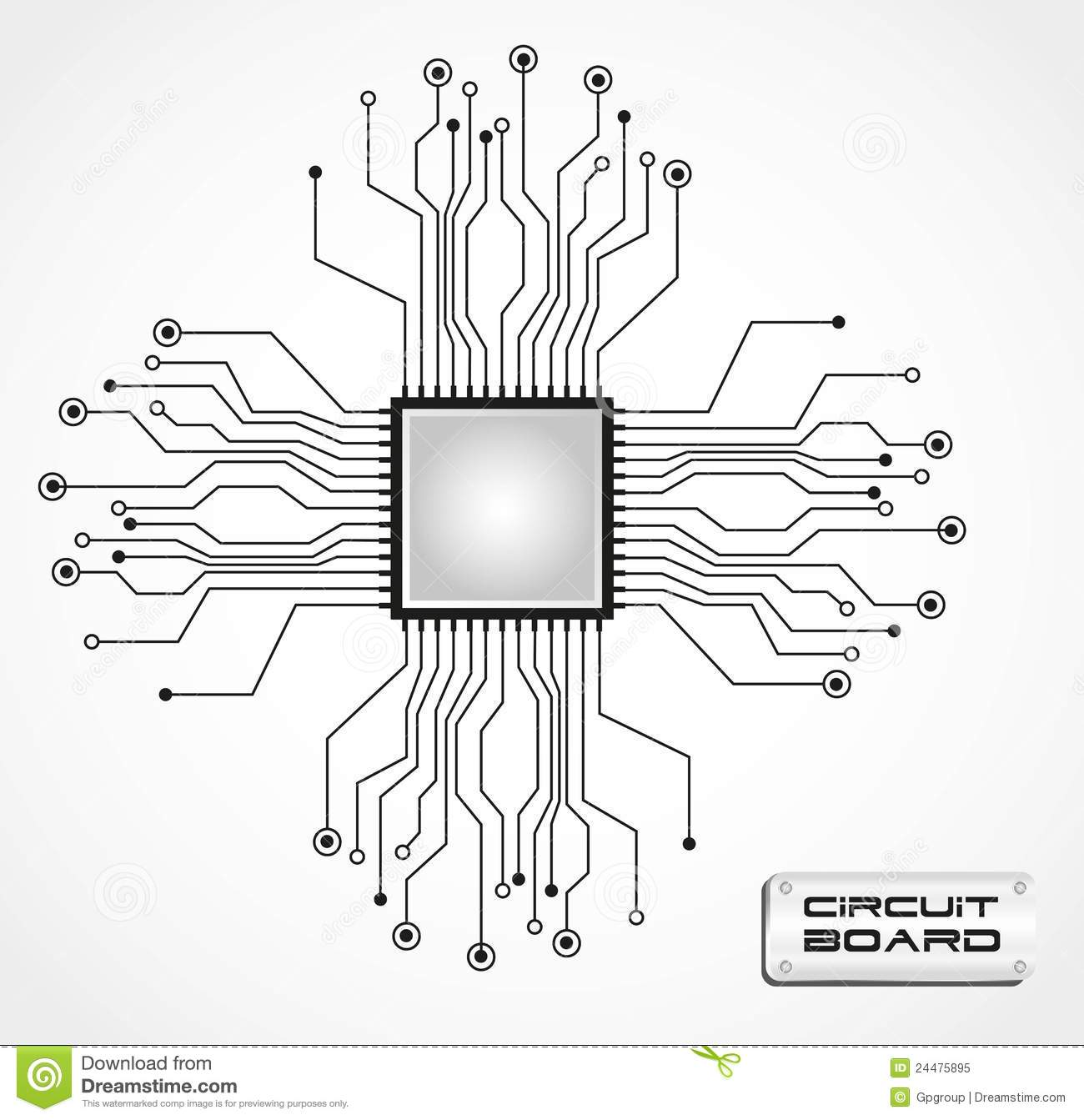 Circuit Board Cpu Royalty Free Stock Photo