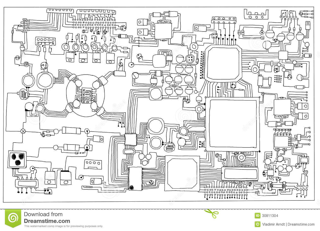 Circuit Board Stock Illustration Illustration Of