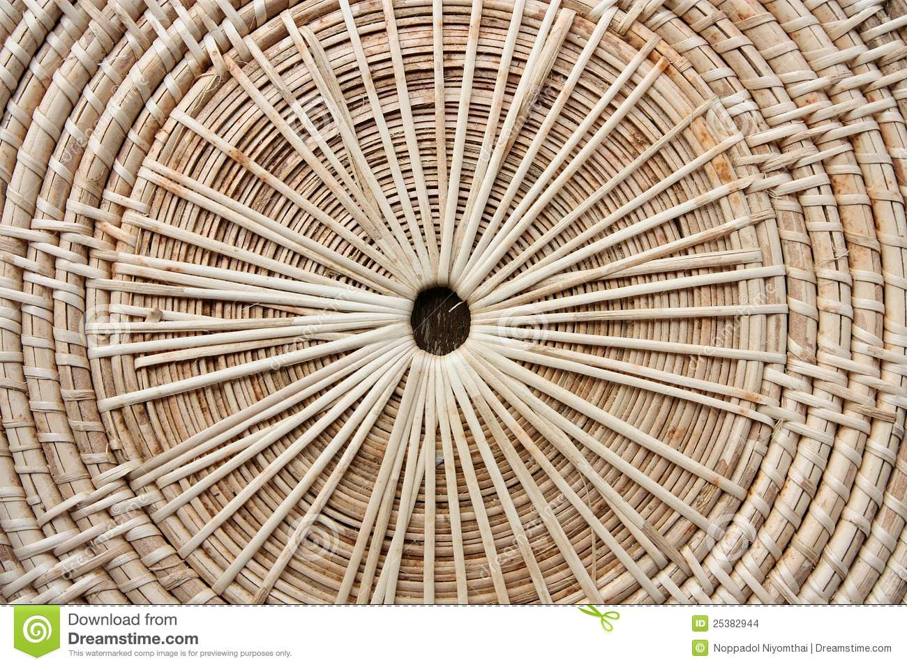 Circular Background Of Rattan Texture Stock Images Image
