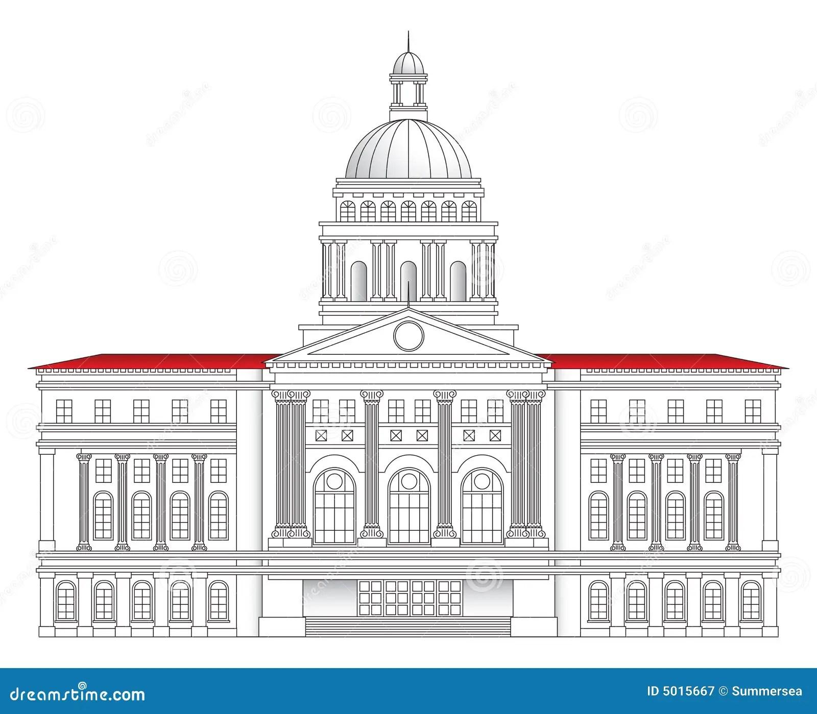City Hall Vector Illustration Royalty Free Stock