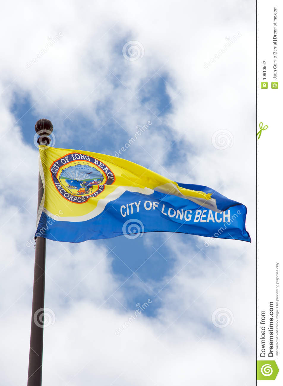 Voters named this jersey shore town the best beach in the united states. City Of Long Beach Flag Stock Photo Image Of Travel 10610562
