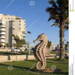 City Sculpture Seahorse Editorial Stock Image Image Of Urban 120136939