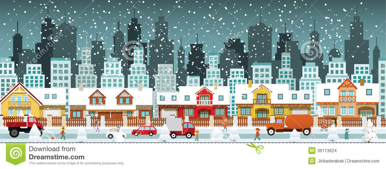 City In Winter Stock Images Image 36113624